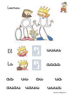 el rey u y la reina a