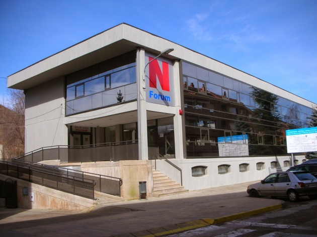 Edificio Najeraforum en la localidad de Nájera, La Rioja.